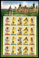 1996 - AMERICAN INDIAN DANCES - #3072-6 Full Mint Sheet of 20 Postage Stamps
