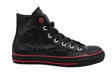 Converse Chuck Taylor Africas Hi Black Leather Lace Up Unisex Plimsolls 103483