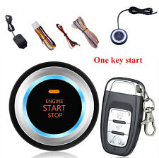 Car Auto Alarm System Security Vibration Alarm Ignition Engine Start Push Button