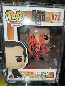 Jeffrey Dean Morgan Autograph Walking Dead Negan Funko POP Signed BAS