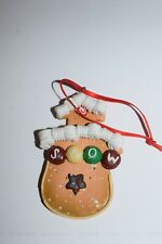 """Estate Christmas Ornament Gingerbread Girl """"Snow"""" in M & M's Across Tummy Look"""