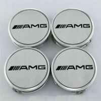 4X Alloy Wheel Centre Caps For Mercedes Benz AMG 75mm Badges Hub Emblem A C E G