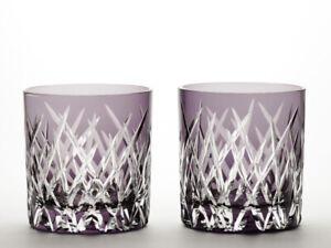 The Department Choice / Old-fashioned Glass Pair / Edo Kiriko Shako Bishi /Japan