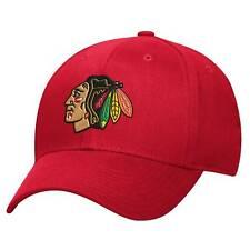 Chicago Blackhawks NHL Reebok Basic Red Pro Shape Flex Fit Hat Cap Men's S/M