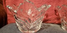 Maple Leaf Lead Crystal Bowls
