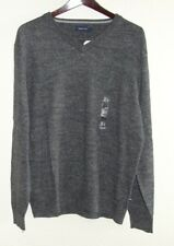 New Mens Nautica Sz L Charcoal Gray V-Neck Sweater