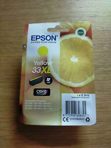 GENUINE C13T33644012 Epson 33XL. YELLOW. Boxed & sealed. May 2023