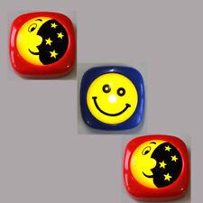 3 Stück Mini LED Nachtlicht 2xMond und Sterne+ Smiley Kinder Leuchte Kinderlampe