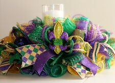 Mardi Gras Centerpiece Mardi Gras Candle Ring Mardi Gras Table Decor