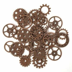 50-100g Metal Gears Pendant Steampunk Cogs Mixed Charms DIY Jewelry Making Parts