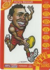 2013 Teamcoach Magic Wild-08 Harley Benell Gold Coast Suns