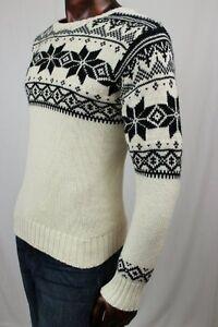 Ralph Lauren Polo Men's Angora Crew Neck Snowflake Sweater ~NWT~