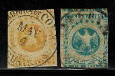 Venezuela #12,13 1863-64 Used