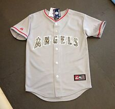 Los Angeles Angels Anaheim USMC Majestic Replica Jersey Youth Large New w/ Tags