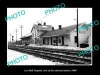 OLD LARGE HISTORIC PHOTO OF LEE HALL VIRGINIA, THE RAILROAD STATION c1960