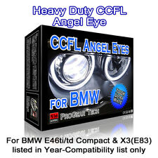 7000K White Heavy Duty BMW E46 Compact ti/td X3 E83 CCFL Angel Eyes Halo Rings