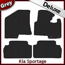 Kia Sportage Mk3 2010-2015 Tailored LUXURY 1300g Carpet Car Floor Mats GREY