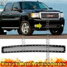 For GMC Sierra HD 2500/3500 2007-2010 Black Mesh Rivet OVERLAY Bumper Grille 1PC