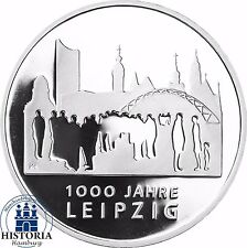 Deutschland 10 Euro Gedenkmünze 2015 PP 1000 Jahre Leipzig in Spiegelglanz