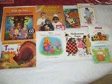 9 Fall Themed Books Pumpkin Halloween Thanksgiving Winnie the Pooh Spongebob ETC