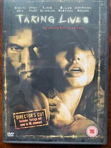 Taking Lives DVD 2004 Movie Erotic Thriller w/ Angelina Jolie and Ethan Hawke