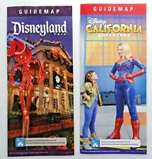 Disneyland Nov 2019 Guide Map Set Haunted Mansion Holiday & DCA Captain Marvel