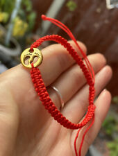 Gold Bracelet Baby Foot Feet  Women Red Protection Evil Eye