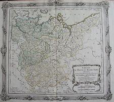 CARTE  DES CERCLES DE HAUTE ET BASSE SAXE, ORIGINALE DE 1766 ,  DESNOS
