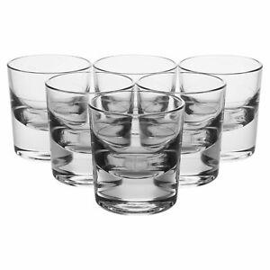 NEW Set Of 6 Piemontese Liquer Shot Glasses Glassware Bar Vodka Whisky 135ml