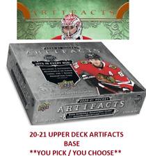 2020 20-21 UPPER DECK ARTIFACTS BASE CARD SET   ** YOU PICK / YOU CHOOSE **