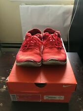 Nike Free Flyknit 4.0 Running Shoes Red Bright Crimson Mens Size 9