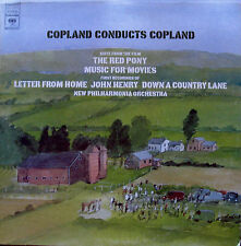"COPLAND CONDUCTS COPLAND ""THE RED PONY/ JOHN HENRY""  M33586  1975 EX Vinyl"