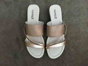 """Diana Ferrari""Super soft Leather upper/lining slide with small wedge heel AU8C"