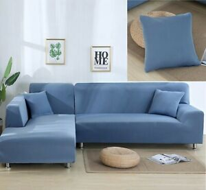 Sofa Cover Elastic Protector Seat Couch Slipcover Modern Stretch Corner Cover
