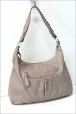 Longchamp Great Bag Leather Flexible Light Gray Worn Shoulder Be