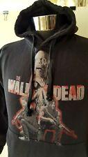 ESY Surf Wear cotton blend The Walking Dead Long Sleeve Hoodie Black Sz S