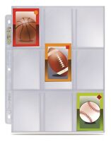 (100) Ultra Pro 9 Pocket Mini Trading Card Album Pages Fits Topps & Bowman Minis