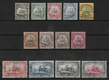 GERMAN SOUTH WEST AFRICA 1901 Used Complete Set of 13 Michel #11-23 CV €360 VF