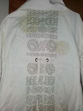 St martins coat/jacket...8/10..cream with unique design..gold stitching