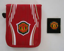 Men's Manchester United Wallet, New Red Whit Official Product Soccer Zipper