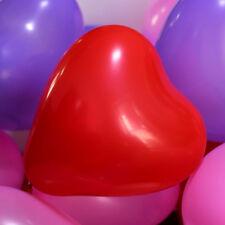 10X    36 Inch Giant Red Heart red loving heart Latex Balloon (Premium Heliu