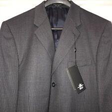Marco Biella Navy Three Button Blazer Sport Coat Suit Jacket 44 Extra Long Tall