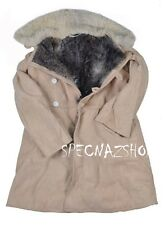 BEKESHA TULUP Soviet USSR Army ISSUE Sheepskin & Fur Shearling Winter Coat