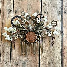 Vintage Inspired Indian Head Penny Hair Comb Steampunk Wedding Pinup Rockabilly