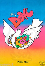 Dove Poster/Print/1968 Peter Max/Reproduction/Pop Are/Bright colors