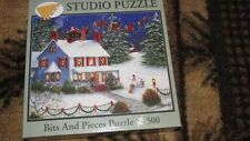 Bits and Pieces Jigsaw puzzle Now Dash Away Christmas 500 pc  EUC complete