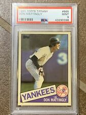 1985 Season Don Mattingly Baseball Cards For Sale Ebay