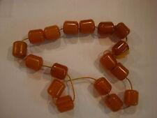 Antique Bakelite barrel shaped beads