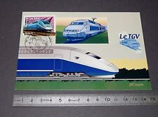 CARTE POSTALE 1er JOUR PHILATELIE 2002 TRAIN TGV ATLANTIQUE SNCF CHEMIN DE FER