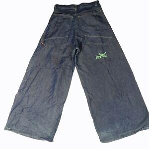 Vintage 90s GAT Gypsies And Thieves Baggy Mega Wide Leg Raver Skate Goth Jeans
